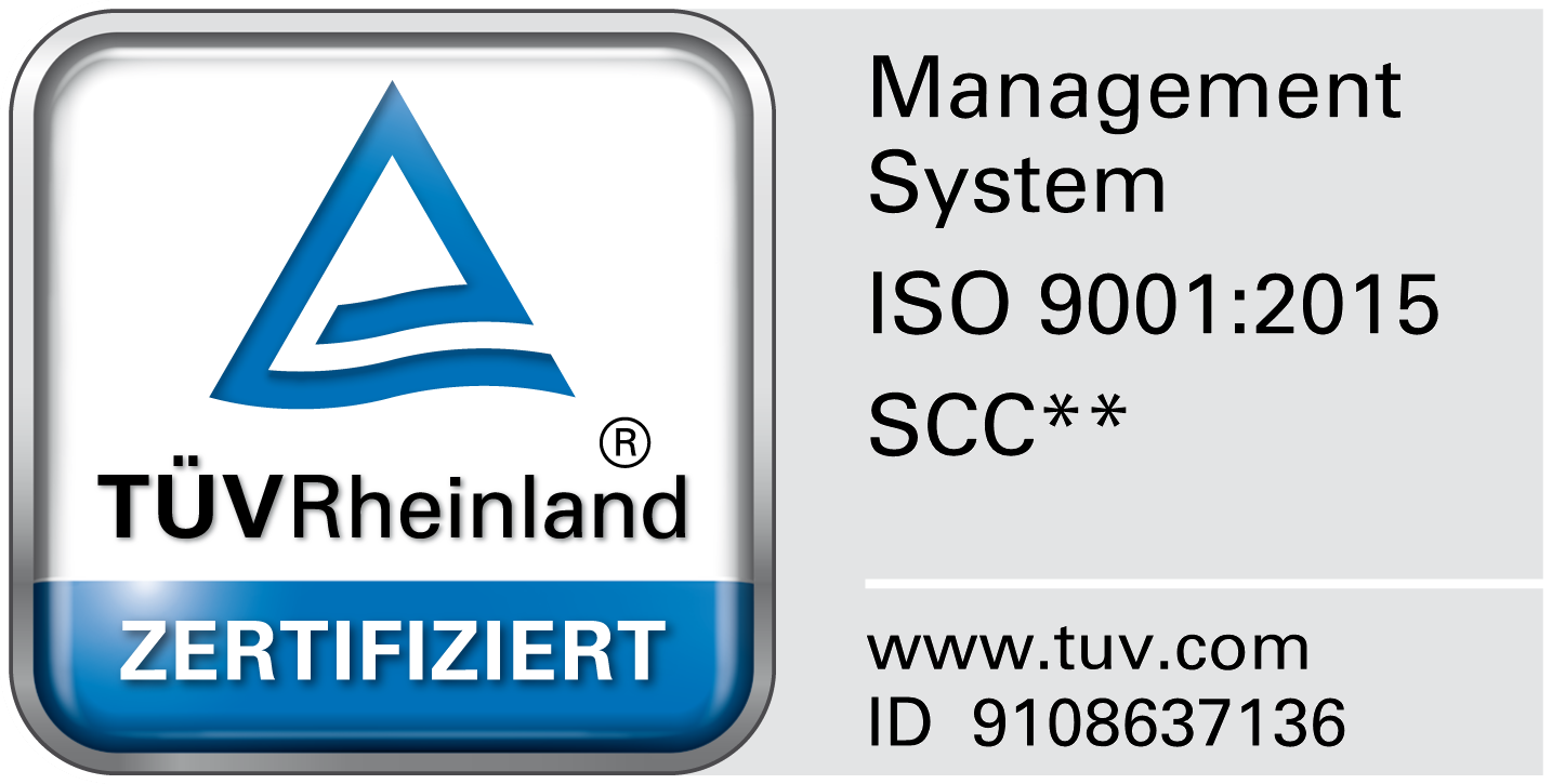 ISO 9001 TÜV Zertifiziert